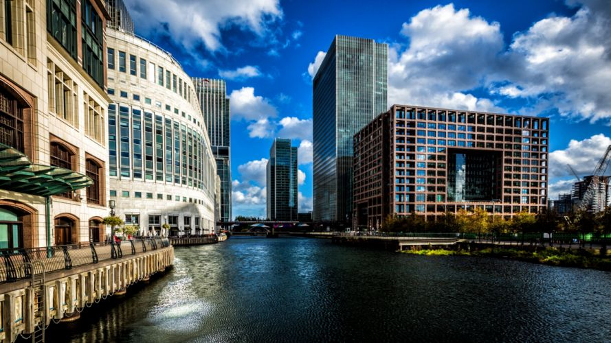 Canary Wharf London Architecture wallpaper