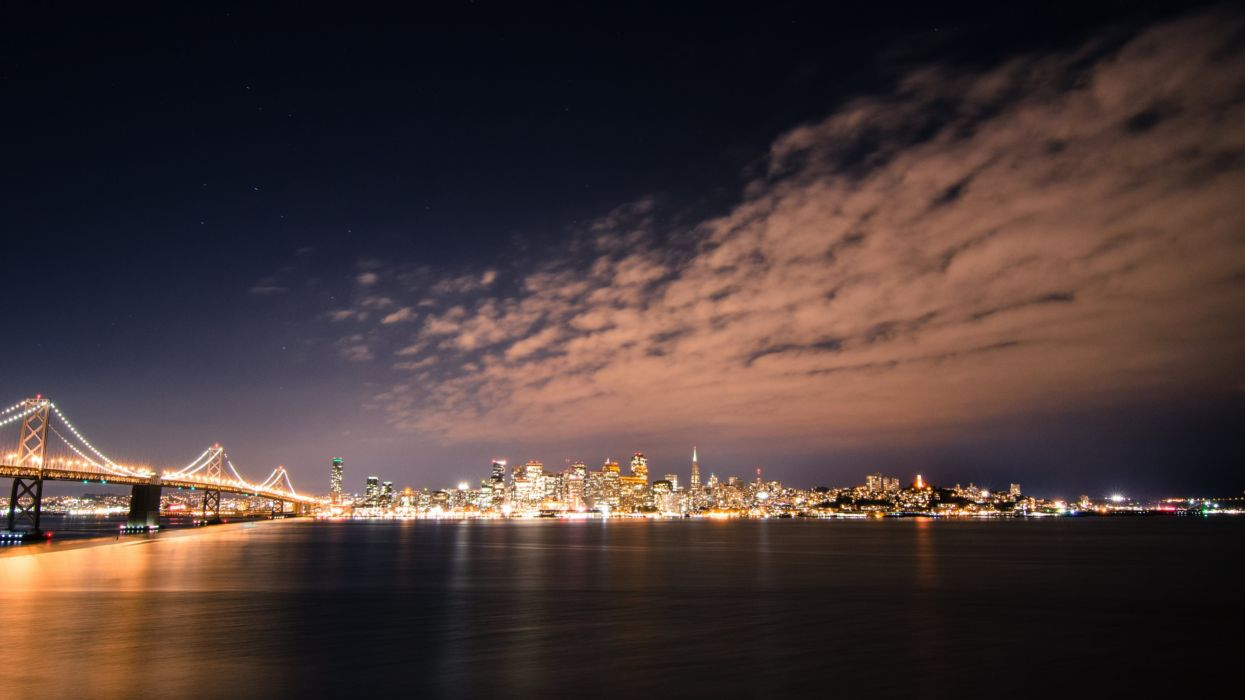 San Francisco Skyline by Night wallpaper