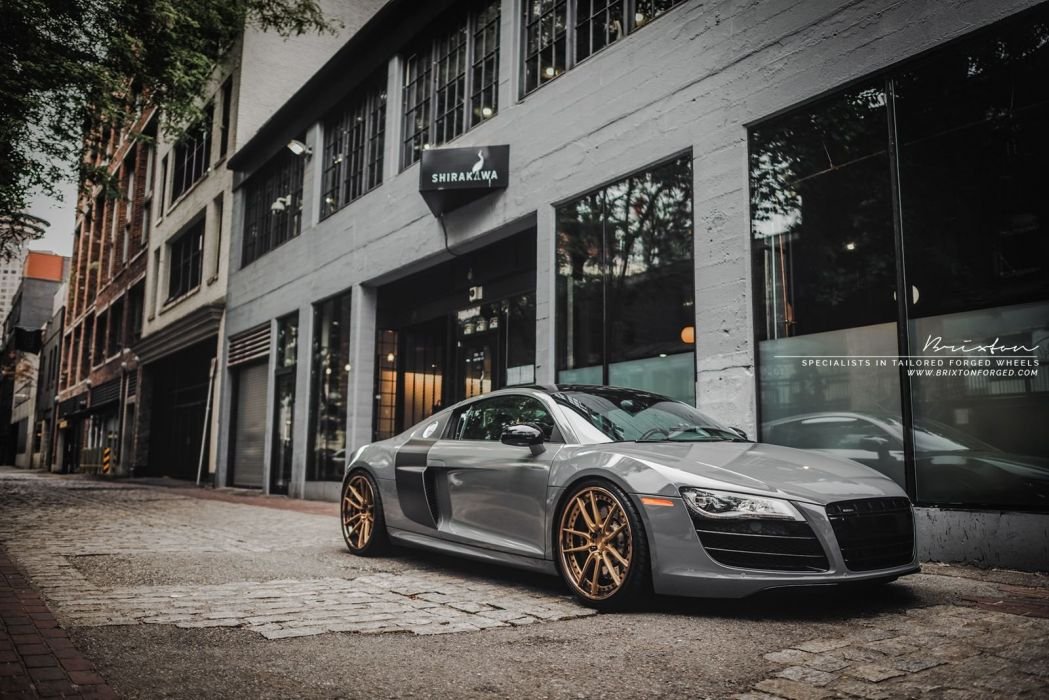 Brixton Forged wheels Audi-R8 V10 coupe cars wallpaper