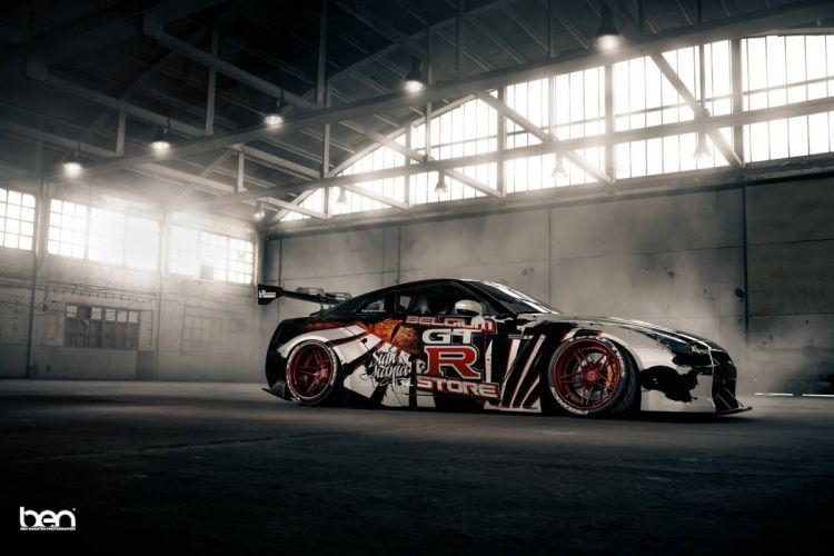 Liberty Walk Nissan GT-R cars coupe modified wallpaper