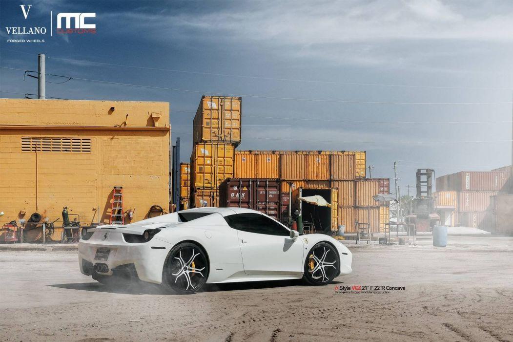 Ferrari 458 Spider Vellano Wheels cars wallpaper