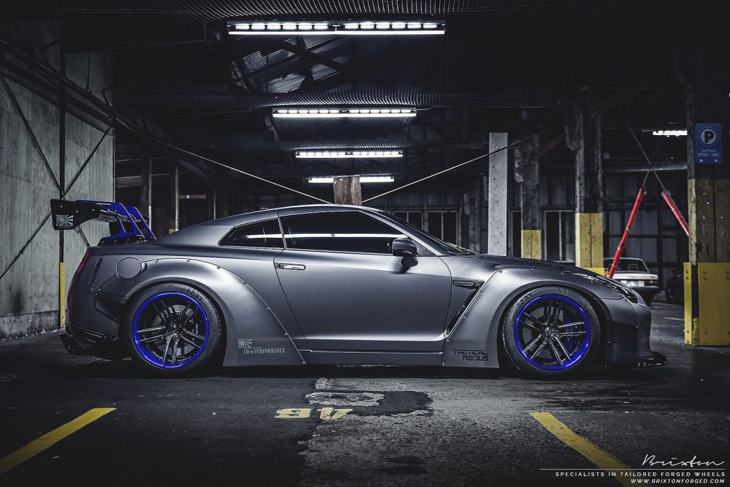 Brixton Forged Wheels Liberty Walk nissan gtr coupe cars wallpaper