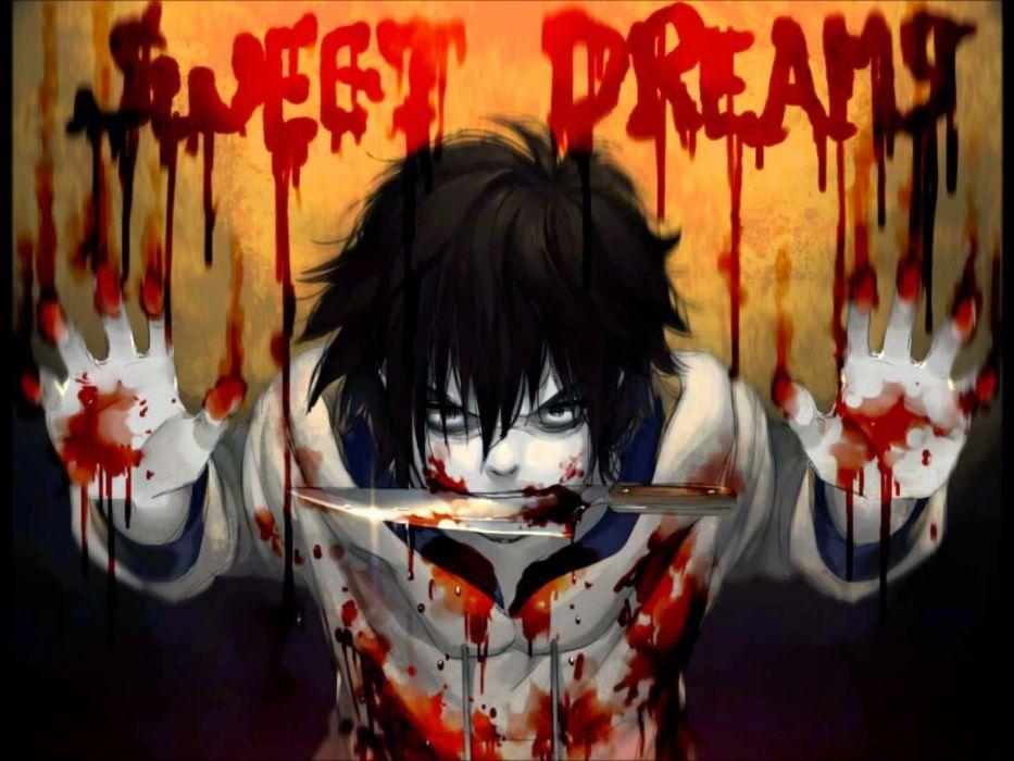 Jeff the killer sweet dreams Anime wallpaper