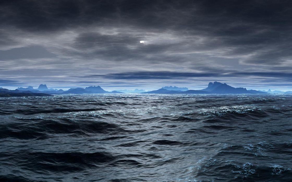 oceanos agua tierra wallpaper