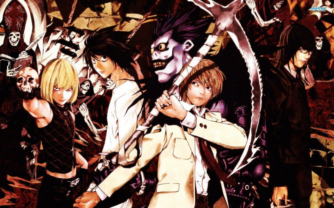 Death note Melo Lawliet Ryuk Light and Mikami wallpaper
