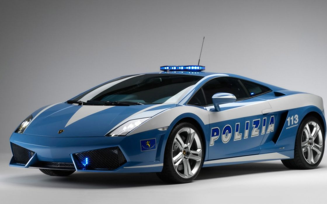 coche policia azul wallpaper