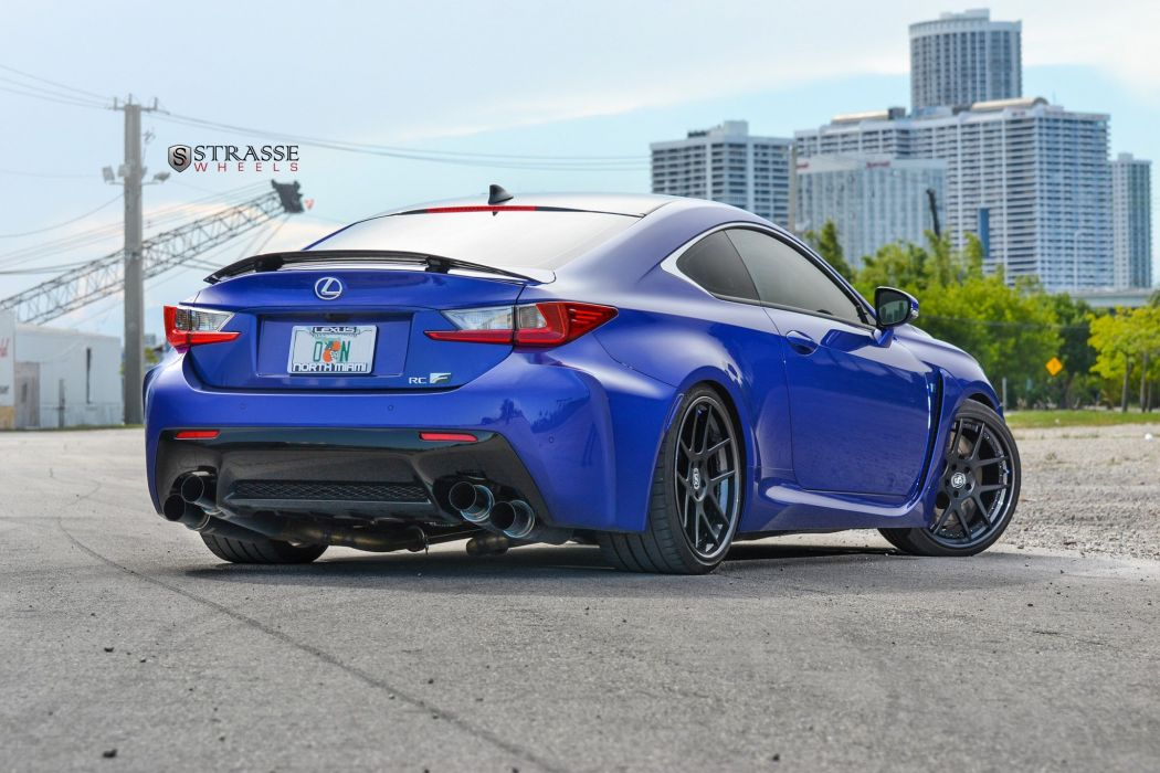 Strasse Wheels Lexus RC-F Carbon cars modified wallpaper