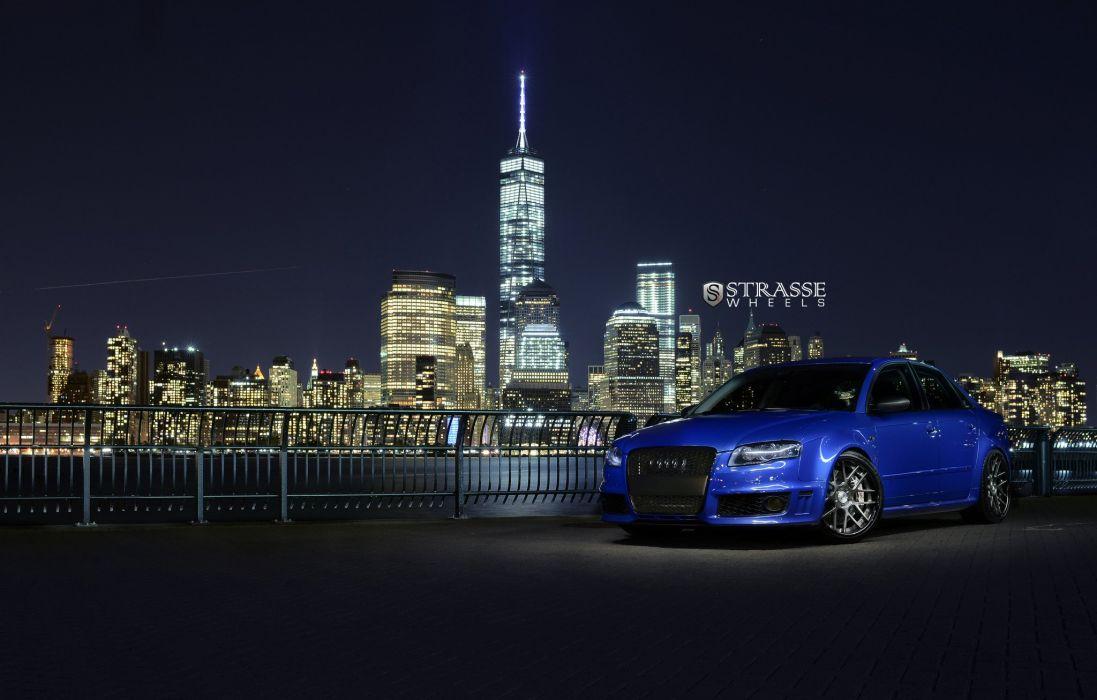 Strasse Wheels Audi RS4 sedan cars wallpaper