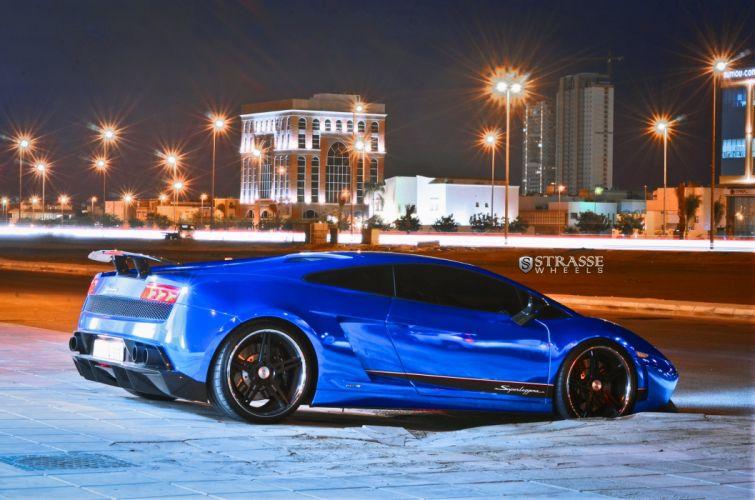 Strasse Wheels Blue Chrome Lamborghini Superleggera gallardo coupe cars wallpaper