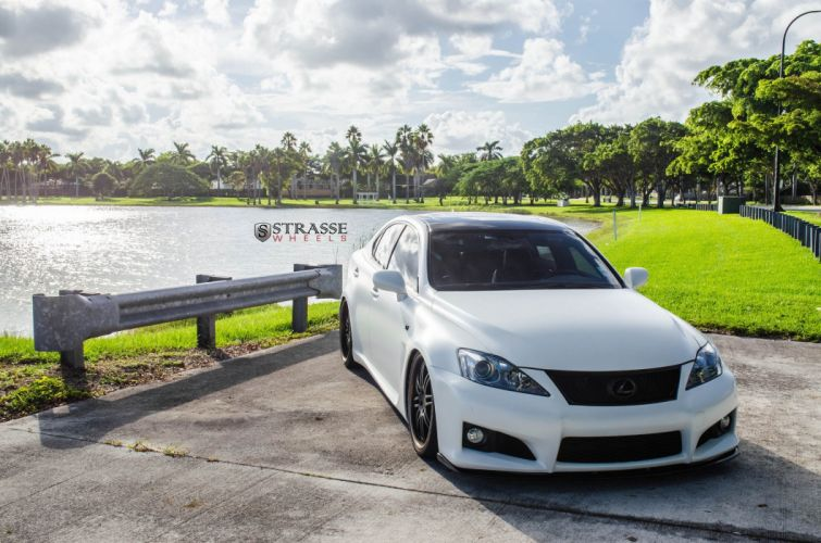 Strasse Wheels Lexus IS-F sedan cars wallpaper
