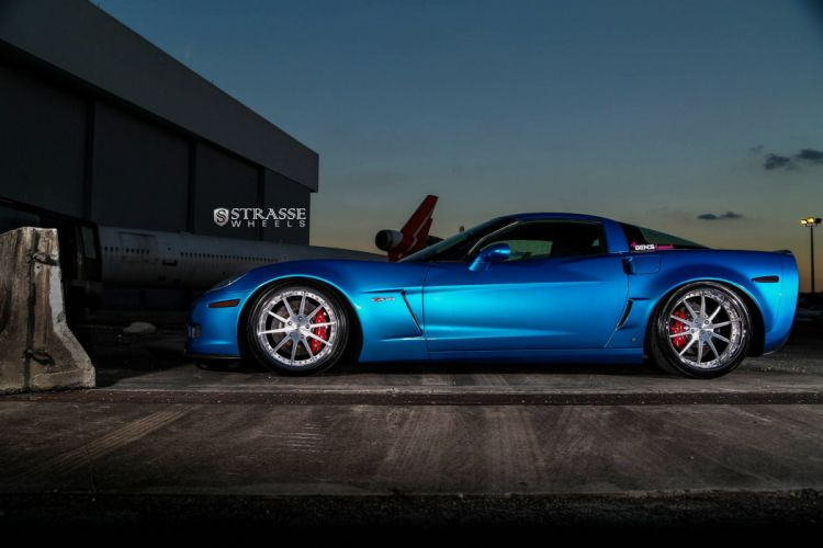 Strasse Wheels Corvette chevy chevrolet Z06 coupe cars wallpaper