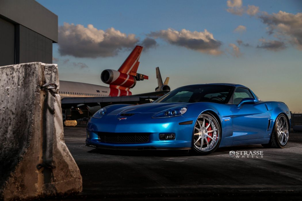 Strasse Wheels Corvette chevy chevrolet Z06 coupe cars wallpaper