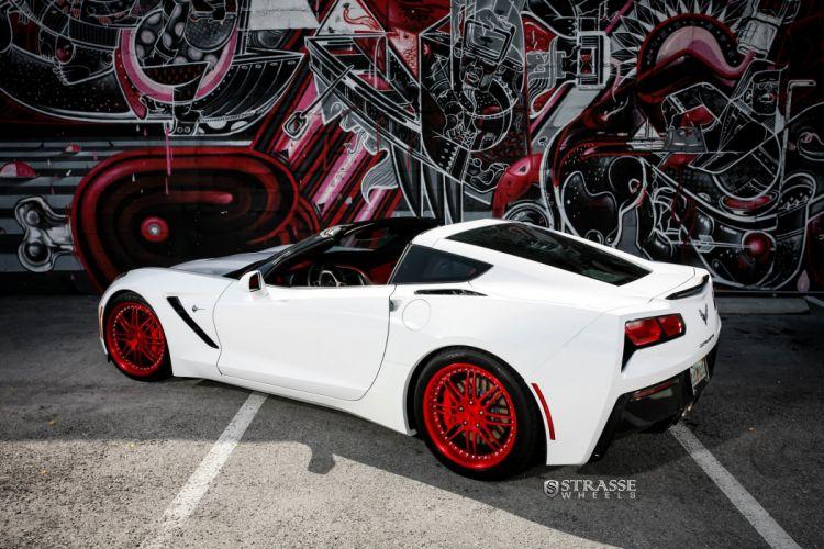 Strasse Wheels Corvette-C7 Stingray coupe cars wallpaper
