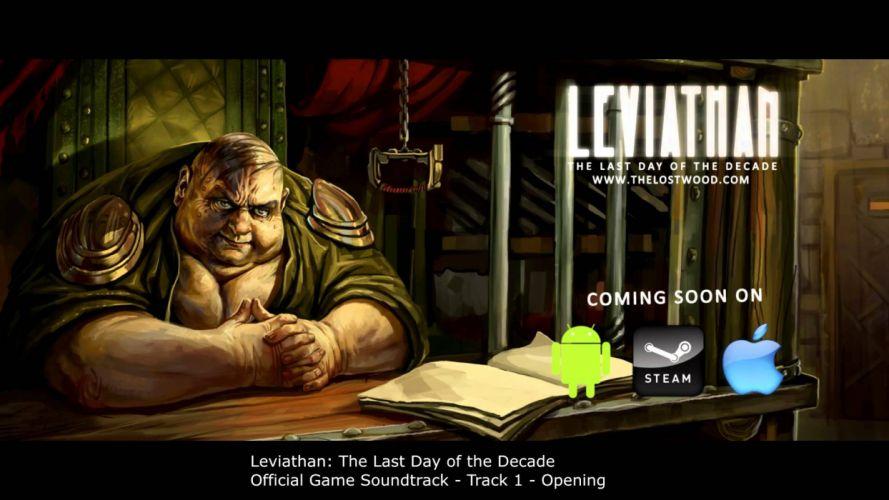 LEVIATHAN Lasy Day Decade fantasy adventure book 1lldd microsoft windows puzzle strategy dark poster wallpaper