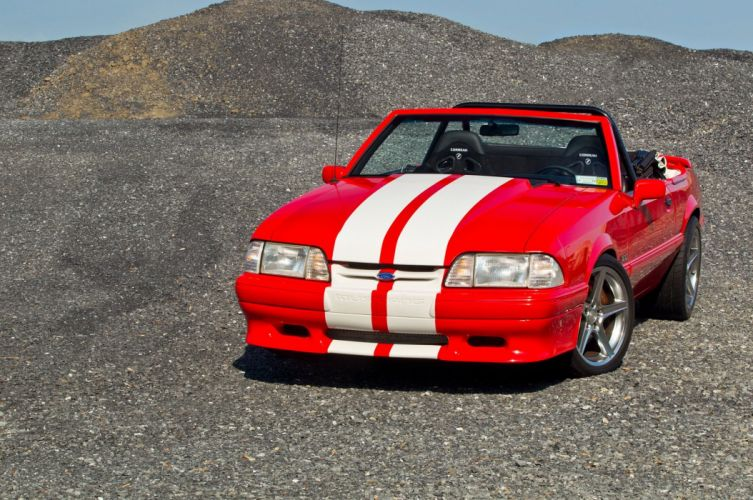 1992 Ford Mustang convertible muscle wallpaper