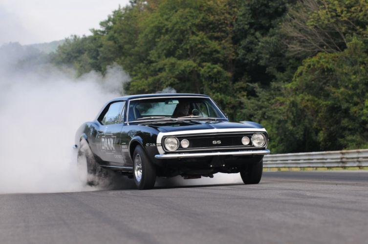 1967 Chevrolet Camaro muscle classic hot rod rods drag race racing custom wallpaper