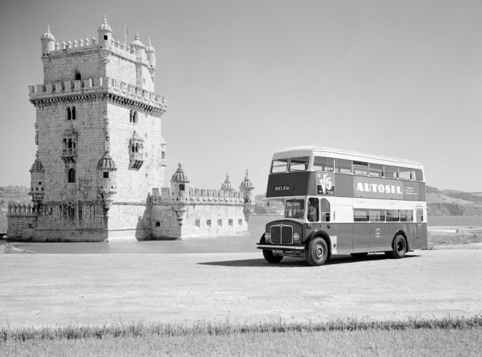 1958 AEC Regent V bus semi tractor transport retro wallpaper