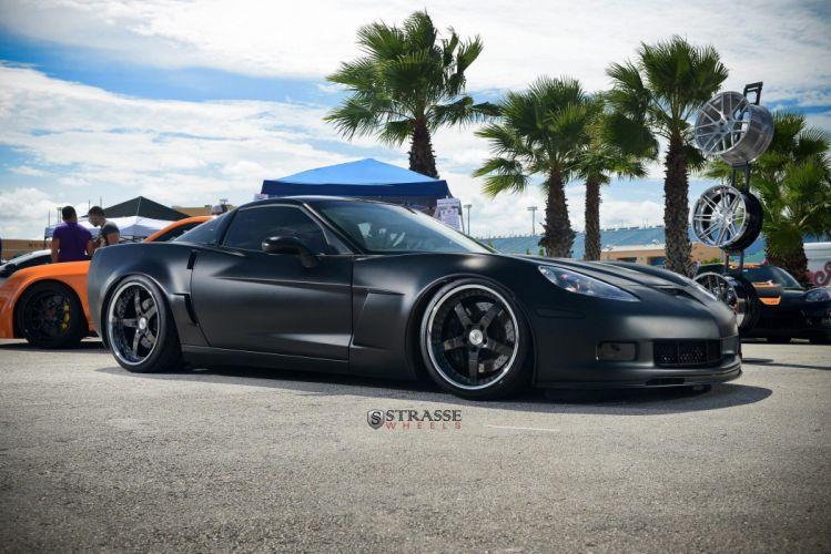 Strasse Wheels Corvette Z06 coupe chevrolet chevy cars wallpaper