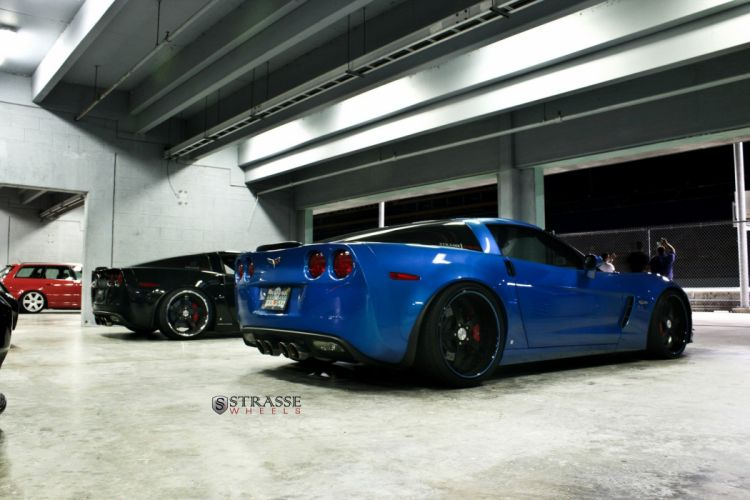 Strasse Wheels Corvette Z06 coupe chevrolet chevy cars wallpaper