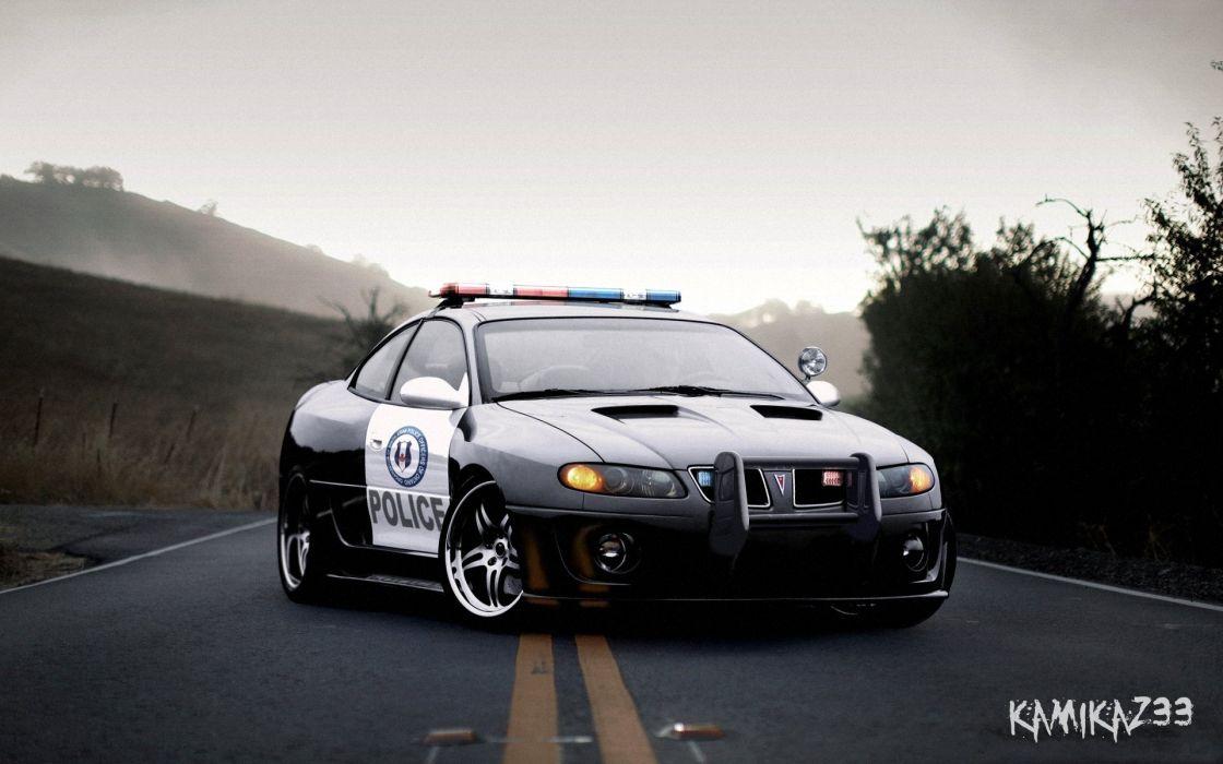 PONTIAC GTO muscle classic hot rod rods custom police emergency wallpaper