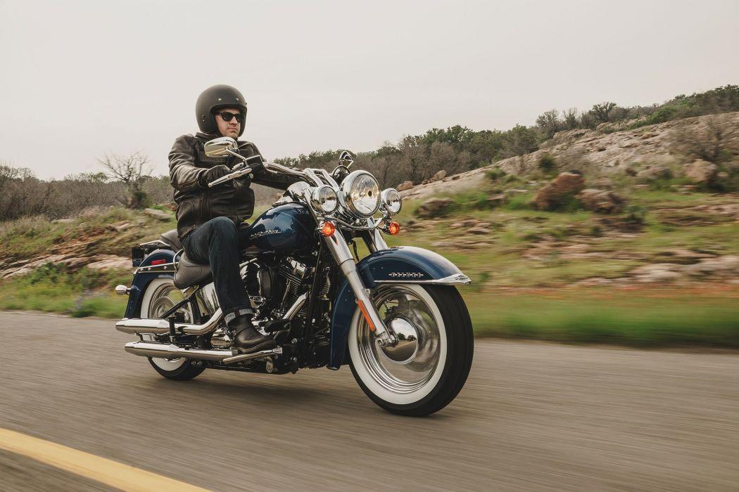 2016 Harley Davidson Softail Deluxe motorbike bike motorcycle wallpaper