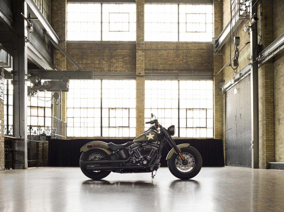 2016 Harley Davidson Softail Slim S Fat Custom motorbike bike motorcycle wallpaper