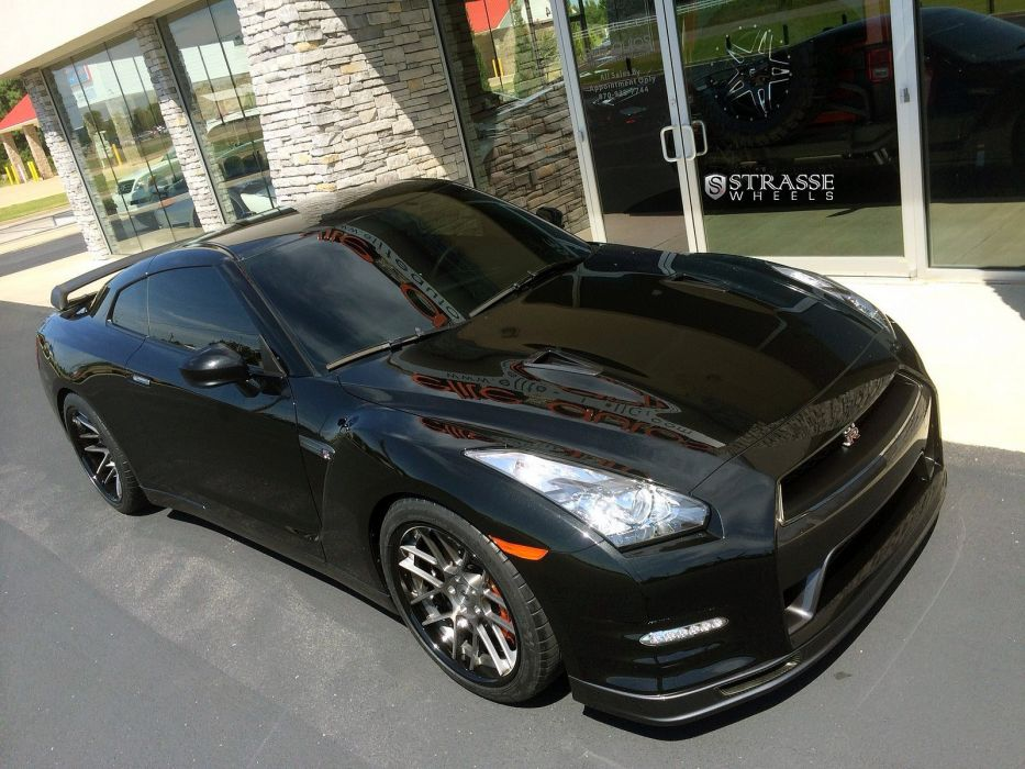 Strasse Wheels nissan GT-R Track Edition coupe cars wallpaper