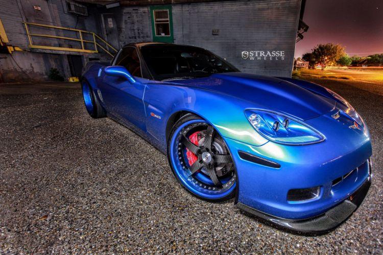 Strasse Wheels Corvette-C6 Z06 chevy chevrolet coupe cars wallpaper