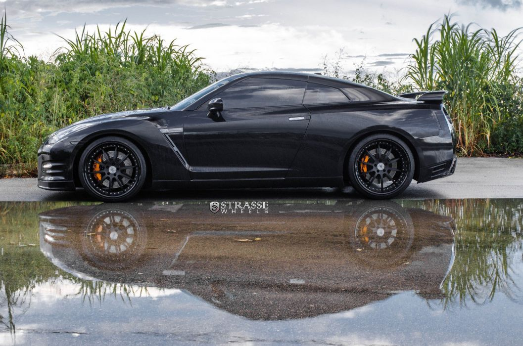 Strasse Wheels missan GT-R coupe cars wallpaper