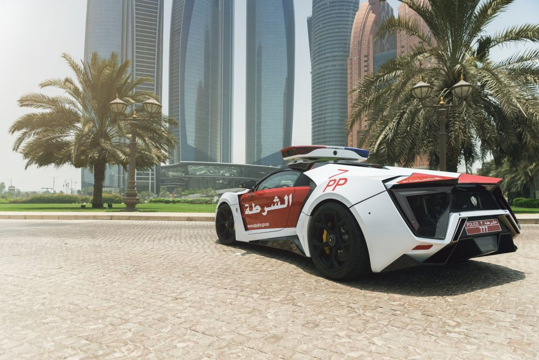 Abu Dhabi Police Lykan Hypersport cars supercars wallpaper