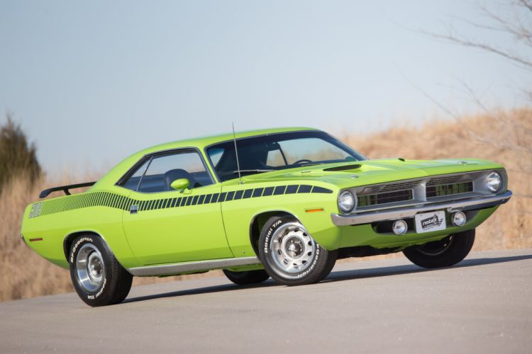 1970 cars coupe Plymouth Cuda cars wallpaper
