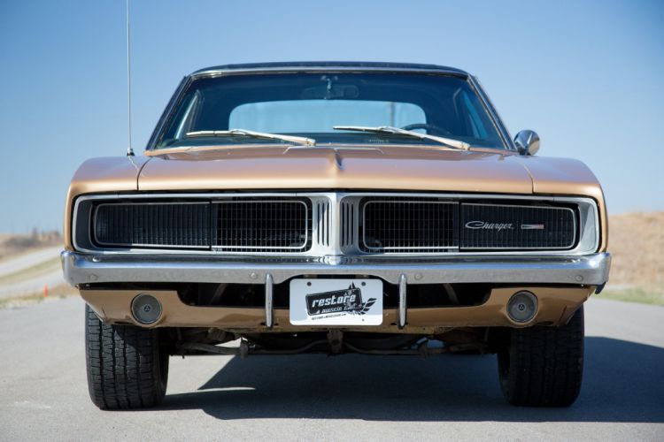 1969 cars coupe Gold Dodge Charger cars usa wallpaper