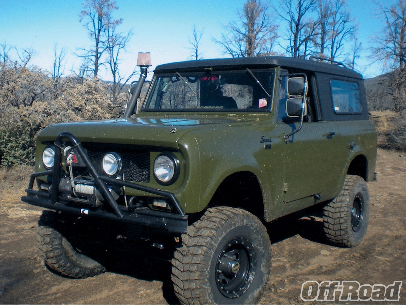 International Scout Suv 4x4 Harvester Offroad Wallpaper