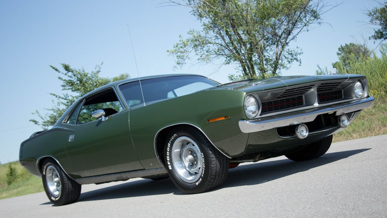 1970 Plymouth Cuda coupe cars wallpaper