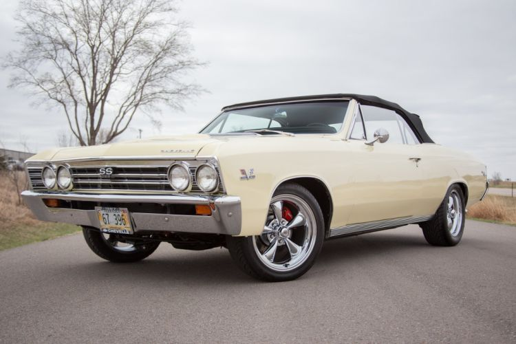 1967 Chevelle chevy convertible cars wallpaper