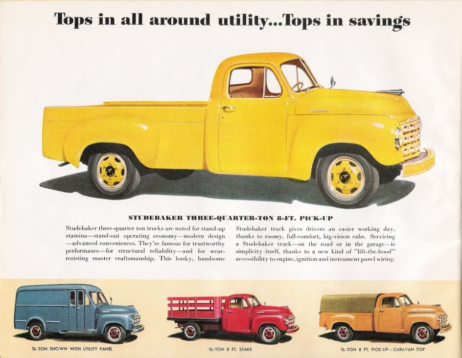 STUDEBAKER PICKUP truck retro classic poster wallpaper