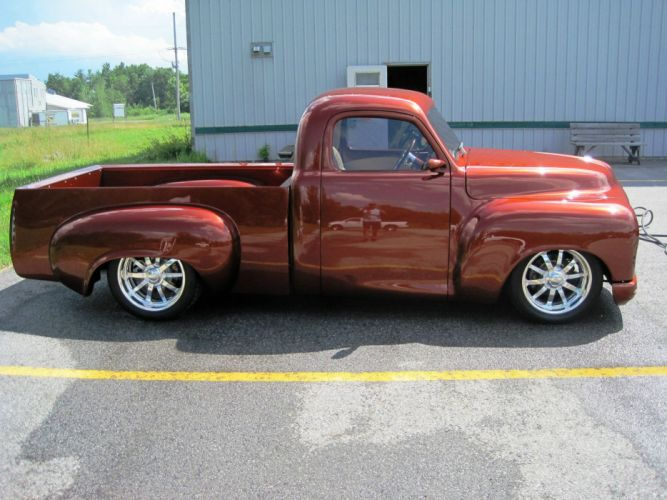 STUDEBAKER PICKUP truck retro classic custom hot rod rods wallpaper
