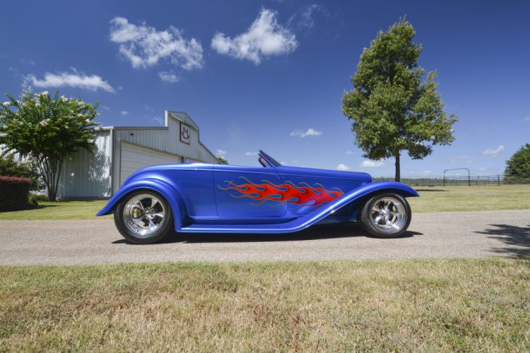 1932 Ford Roadster Boydster II Street Rod Hot Old USA -02 wallpaper