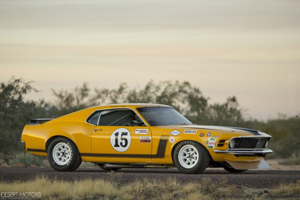 1970 Ford Mustang Boss 302 Kar Kraft Trans-Am race racing trans muscle wallpaper