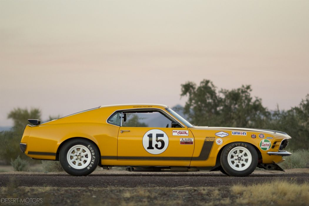 1970 Ford Mustang Boss 302 Kar Kraft Trans-Am race racing trans muscle wallpaper