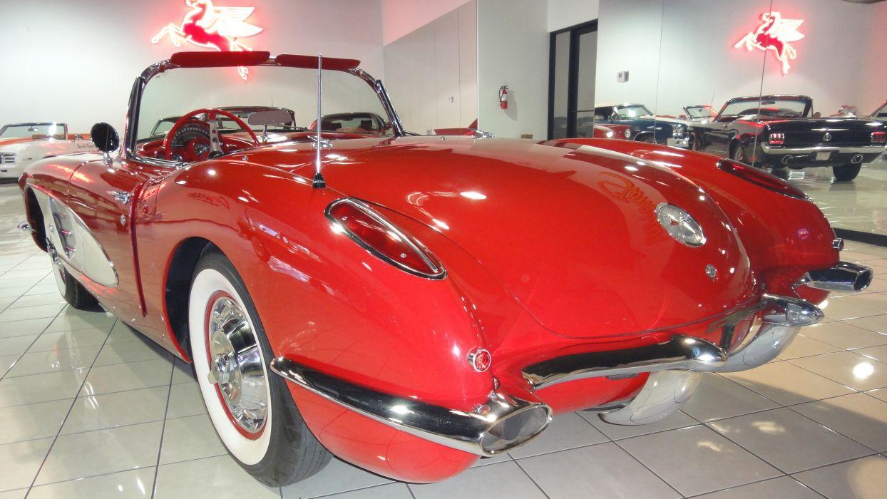1959 Chevrolet Corvette Convertible Muscle Old Classic Original USA -02 wallpaper