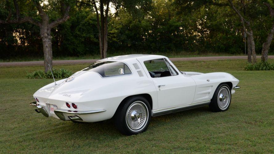 1964 Chevrolet Corvette Coupe Stingray Muscle Classic Old Original USA -03 wallpaper