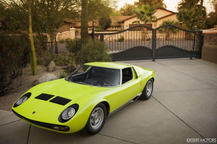 1967 Lamborghini Miura P400SV Conversion supercar classic wallpaper