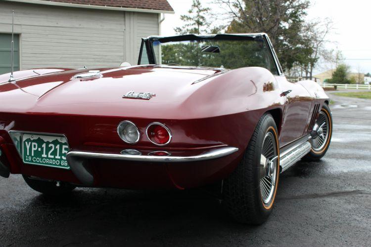 1966 Chevrolet Corvette Convertible Stingray 427 Muscle Classic Original USA -23 wallpaper
