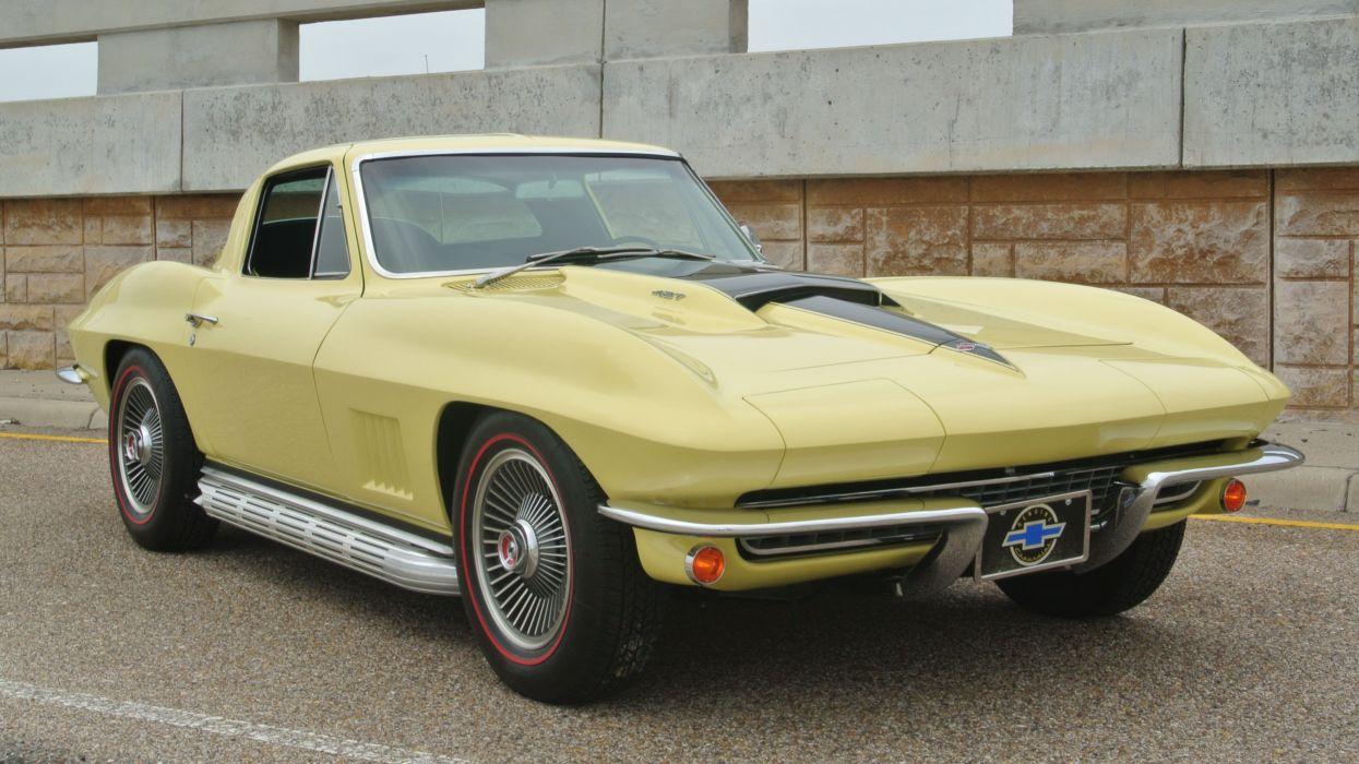 1967 Chevrolet Corvette Coupe Stingray 427 Muscle Classic Old Original USA -01 wallpaper