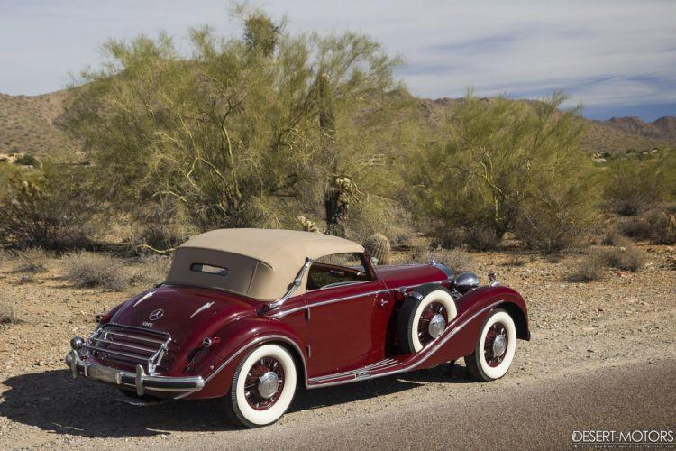1938 Mercedes Benz 540K Cabriolet A Sindelfingen luxury vintage wallpaper