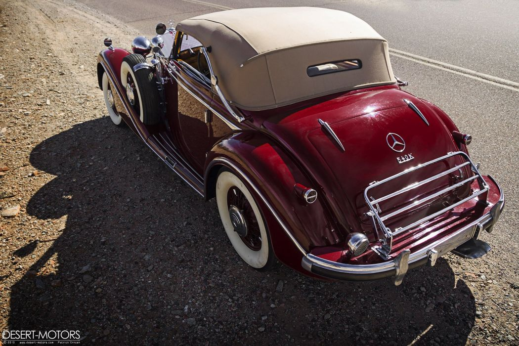 1938 Mercedes Benz 540K Cabriolet A Sindelfingen luxury vintage wallpaper