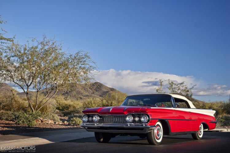 1959 Oldsmobile Ninety-Eight Convertible luxury retro wallpaper
