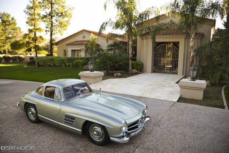 1955 Mercedes Benz 300SL Gullwing Coupe retro 300 luxury wallpaper