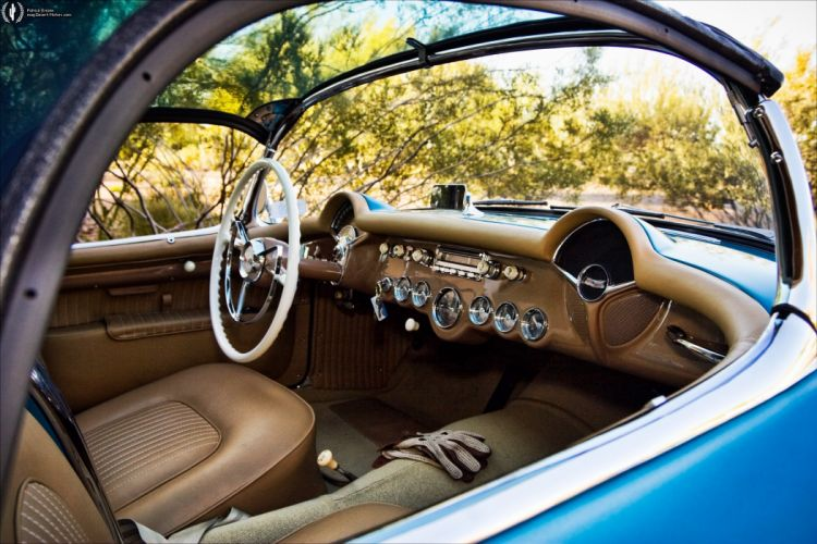 1954 Chevrolet Corvette retro muscle supercar wallpaper